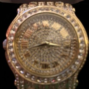 Techno Pave Iced Out Men's Designer Watch